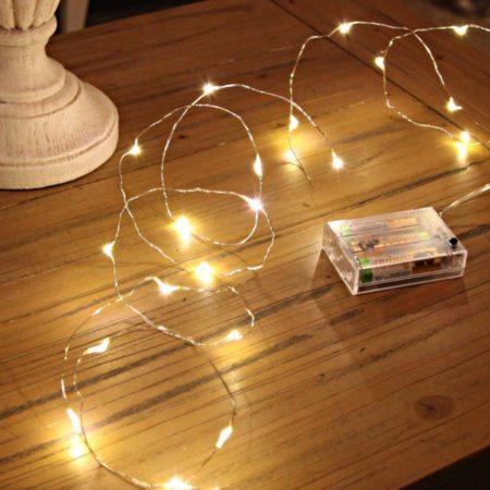Elemes LED mikroszálas fényhuzal 3 m meleg fehér