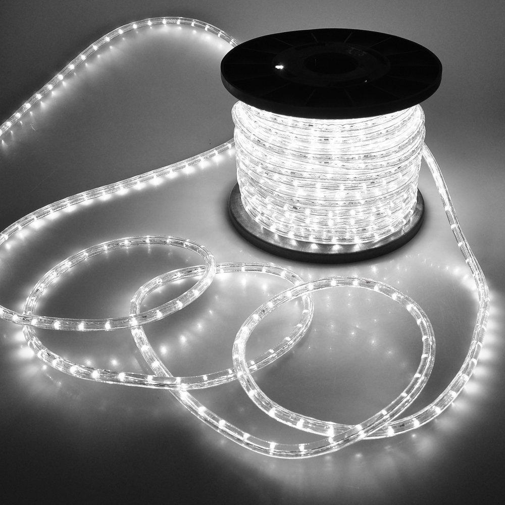 LED Fénykábel 10 m hideg fehér
