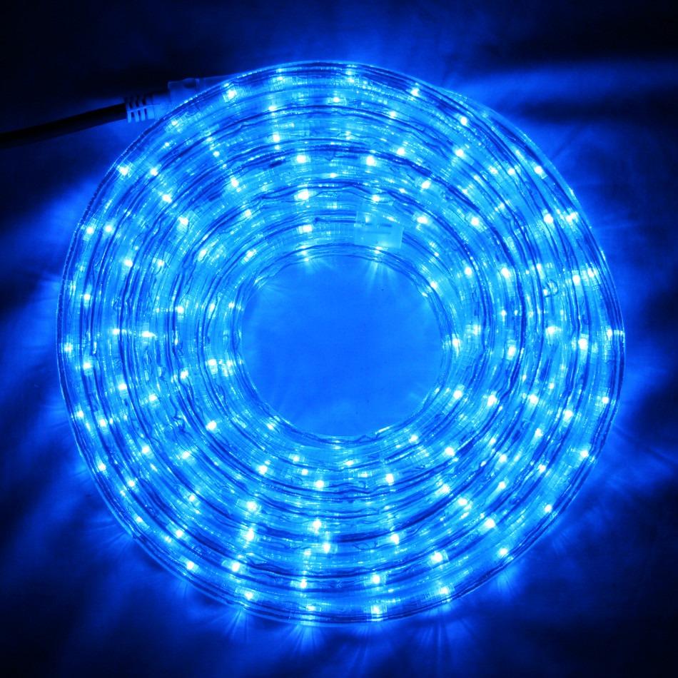 LED Fénykábel 10 m kék