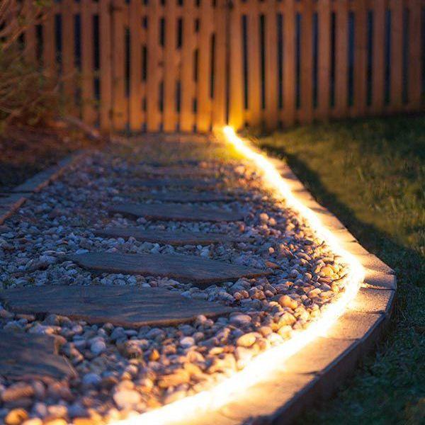 LED Fénykábel 10 m meleg fehér