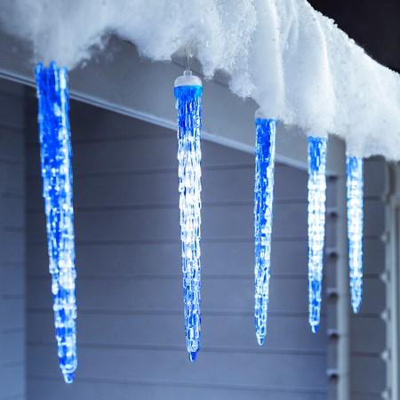 LED Olvadást imitáló luxury csepegő jégcsap 50 cm kék ...