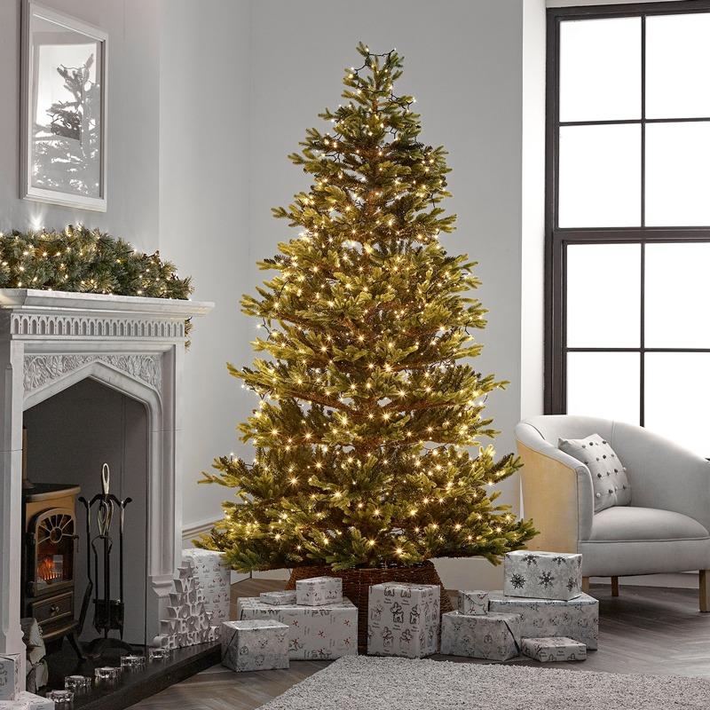 Karácsonyi beltéri fényfüzér – zöld vezetékes