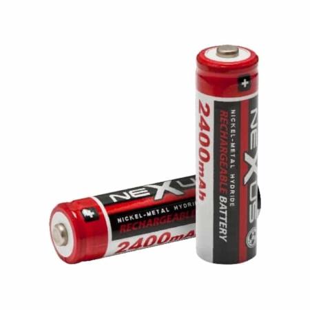 2 db Nexus tölthető AA elem akkumulátor 2400 mAh