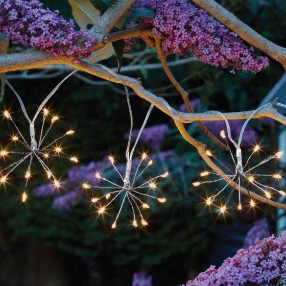 Napelemes LED pitypang fényfüzér 3,8  m meleg fehér