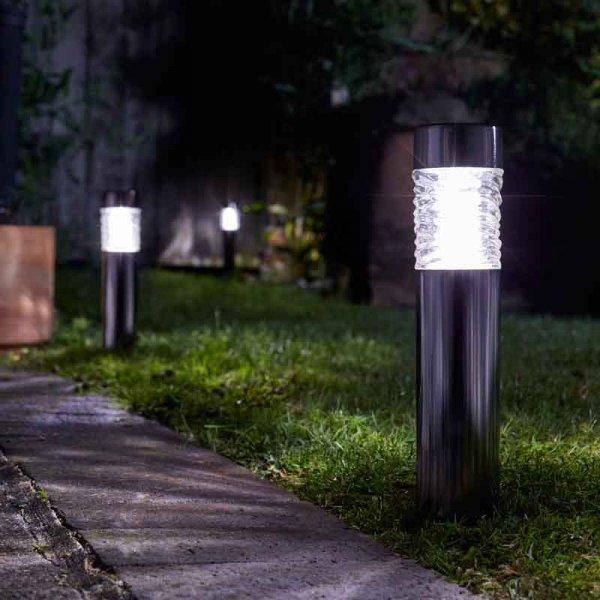 Napelemes Welle földbe szúrható lámpa 56 cm hideg fehér