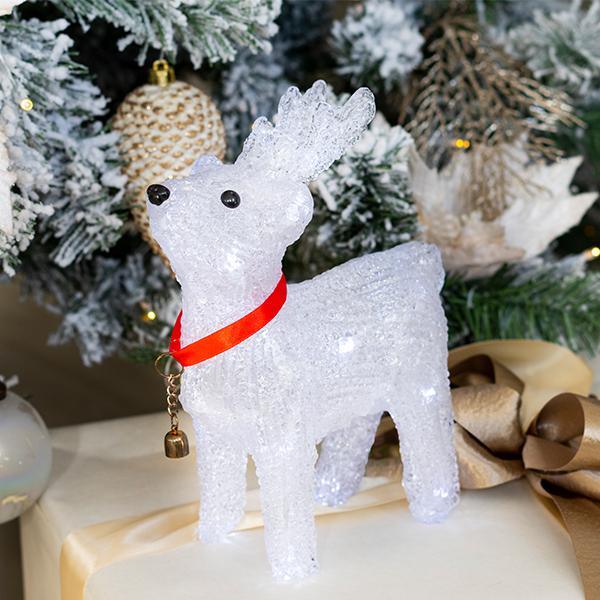 Beltéri elemes karácsonyi álló rénszarvas világítás 25 cm