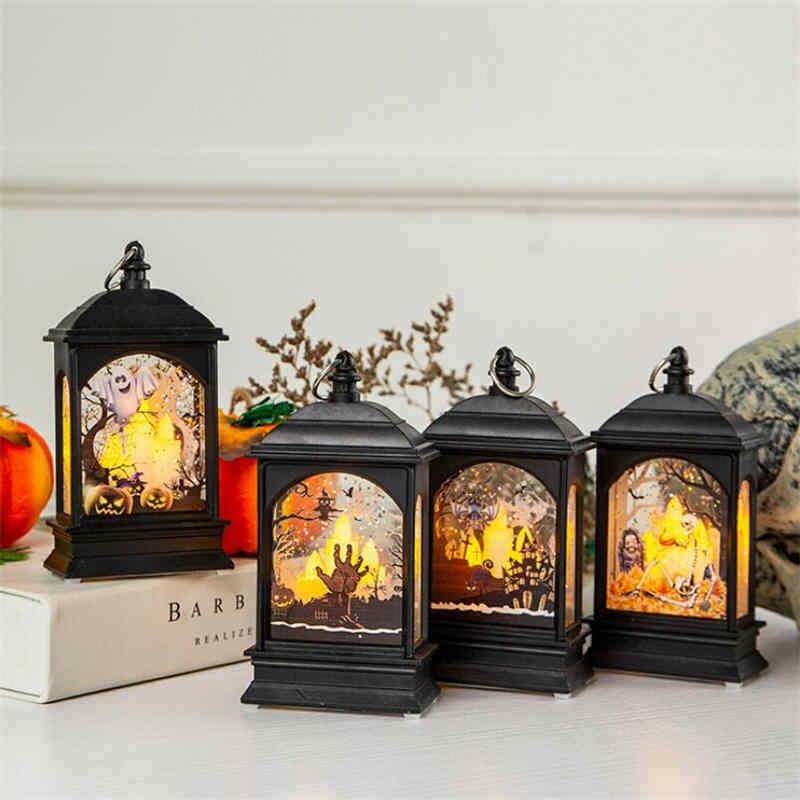Beltéri LED Halloween gyertya lámpás világítás színváltós 13,5 cm – Kéz