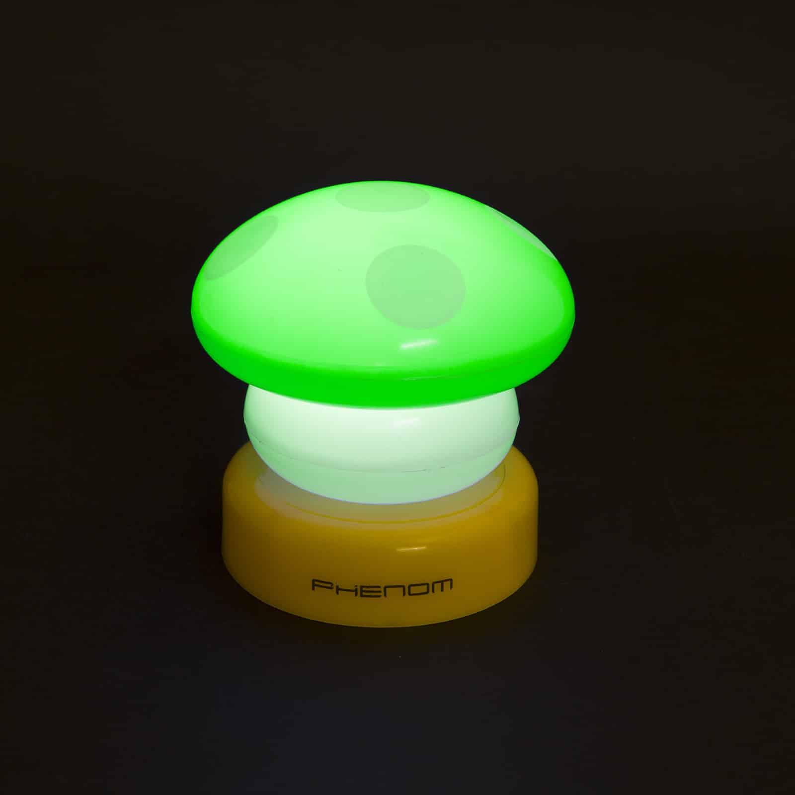 Elemes nyomógombos éjszakai gyerek lámpa gomba zöld 8,5 cm
