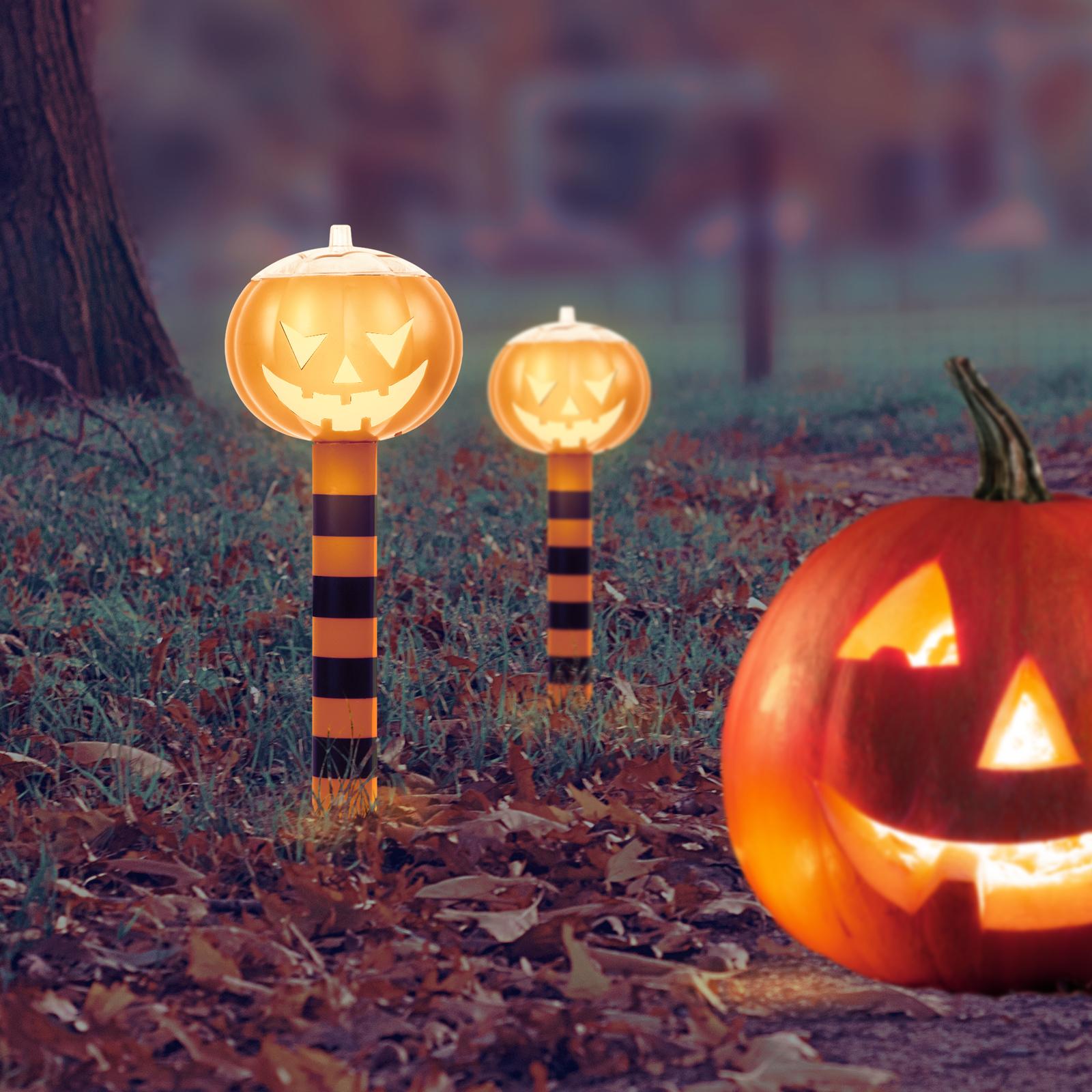 Halloween Kerti napelemes szolár töklámpás világítás 21,5 cm